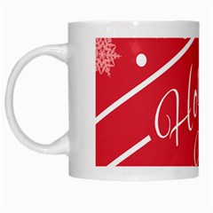 Winter Holiday Hours White Mugs by Amaryn4rt