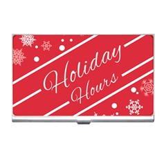 Winter Holiday Hours Business Card Holders by Amaryn4rt
