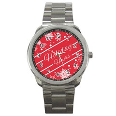 Winter Holiday Hours Sport Metal Watch by Amaryn4rt