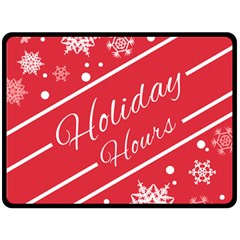 Winter Holiday Hours Fleece Blanket (large)  by Amaryn4rt