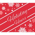 Winter Holiday Hours Deluxe Canvas 14  x 11  14  x 11  x 1.5  Stretched Canvas