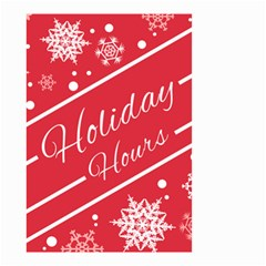Winter Holiday Hours Small Garden Flag (two Sides) by Amaryn4rt
