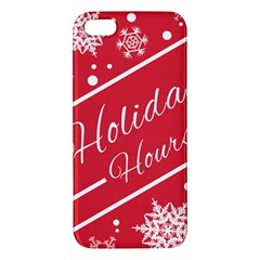 Winter Holiday Hours Apple Iphone 5 Premium Hardshell Case by Amaryn4rt
