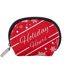 Winter Holiday Hours Accessory Pouches (small)  by Amaryn4rt