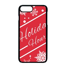 Winter Holiday Hours Apple Iphone 7 Plus Seamless Case (black) by Amaryn4rt