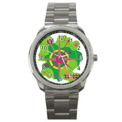 Green Navigation Sport Metal Watch by Valentinaart