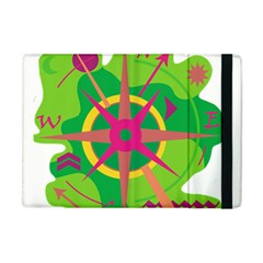 Green Navigation Apple Ipad Mini Flip Case by Valentinaart