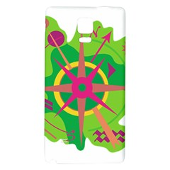 Green Navigation Galaxy Note 4 Back Case by Valentinaart
