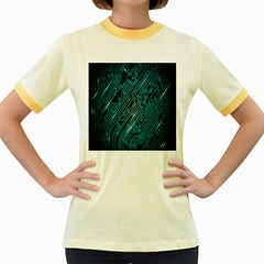 Magnet Element Women s Fitted Ringer T Shirts by AnjaniArt