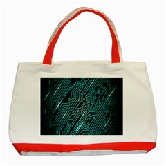 Magnet Element Classic Tote Bag (red) by AnjaniArt