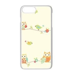 Owl Butterfly Bird Apple Iphone 7 Plus White Seamless Case