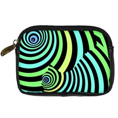 Optical Illusions Checkered Basic Optical Bending Pictures Cat Digital Camera Cases by AnjaniArt