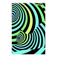 Optical Illusions Checkered Basic Optical Bending Pictures Cat Shower Curtain 48  X 72  (small)  by AnjaniArt