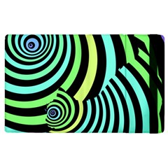 Optical Illusions Checkered Basic Optical Bending Pictures Cat Apple Ipad 3/4 Flip Case by AnjaniArt