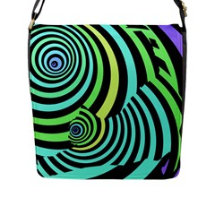 Optical Illusions Checkered Basic Optical Bending Pictures Cat Flap Messenger Bag (l)  by AnjaniArt