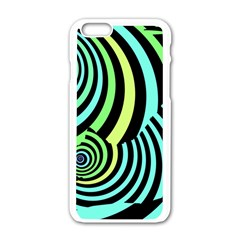 Optical Illusions Checkered Basic Optical Bending Pictures Cat Apple Iphone 6/6s White Enamel Case by AnjaniArt