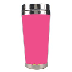 Pink Yellow Stainless Steel Travel Tumblers