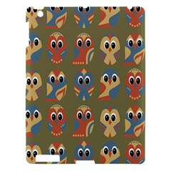 Owl Pattern Illustrator Apple Ipad 3/4 Hardshell Case by AnjaniArt
