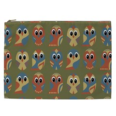 Owl Pattern Illustrator Cosmetic Bag (xxl)  by AnjaniArt