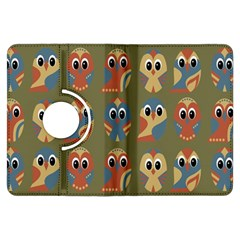 Owl Pattern Illustrator Kindle Fire Hdx Flip 360 Case by AnjaniArt