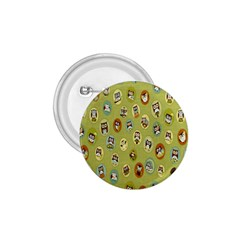Owl Round Green 1 75  Buttons by AnjaniArt