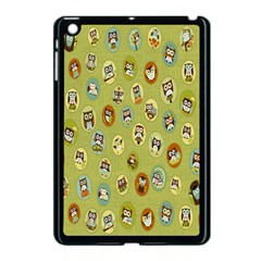 Owl Round Green Apple Ipad Mini Case (black) by AnjaniArt
