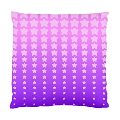 Purple And Pink Stars Standard Cushion Case (two Sides) by AnjaniArt