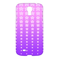 Purple And Pink Stars Samsung Galaxy S4 I9500/i9505 Hardshell Case by AnjaniArt