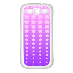 Purple And Pink Stars Samsung Galaxy S3 Back Case (white) by AnjaniArt