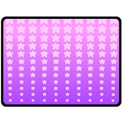 Purple And Pink Stars Double Sided Fleece Blanket (large)  by AnjaniArt