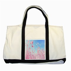 Pink Colour Two Tone Tote Bag by AnjaniArt