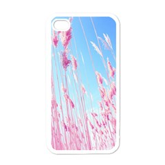 Pink Colour Apple Iphone 4 Case (white) by AnjaniArt