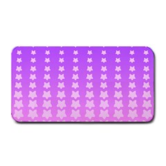 Purple And Pink Stars Line Medium Bar Mats by AnjaniArt