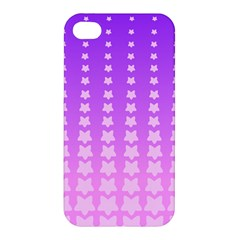 Purple And Pink Stars Line Apple Iphone 4/4s Hardshell Case