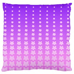 Purple And Pink Stars Line Standard Flano Cushion Case (two Sides) by AnjaniArt