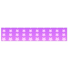Purple And Pink Stars Line Flano Scarf (small) by AnjaniArt