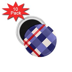 Red And Purple Plaid 1 75  Magnets (10 Pack)  by AnjaniArt