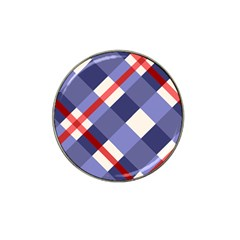 Red And Purple Plaid Hat Clip Ball Marker (10 Pack) by AnjaniArt