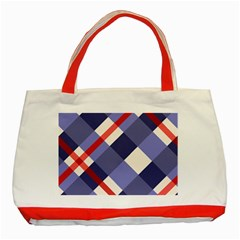 Red And Purple Plaid Classic Tote Bag (red) by AnjaniArt