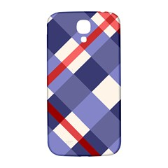 Red And Purple Plaid Samsung Galaxy S4 I9500/i9505  Hardshell Back Case by AnjaniArt