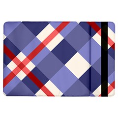 Red And Purple Plaid iPad Air Flip by AnjaniArt
