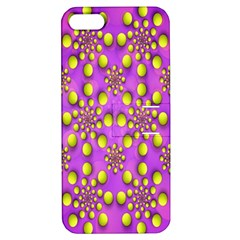 Purple Optical Illusion Wallpaper Apple Iphone 5 Hardshell Case With Stand by AnjaniArt