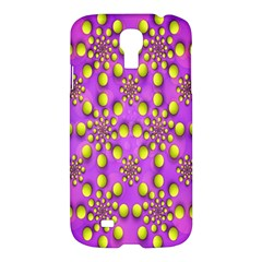 Purple Optical Illusion Wallpaper Samsung Galaxy S4 I9500/i9505 Hardshell Case by AnjaniArt