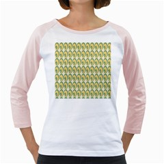 Pattern Circle Green Yellow Girly Raglans by AnjaniArt