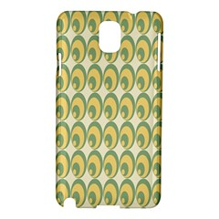 Pattern Circle Green Yellow Samsung Galaxy Note 3 N9005 Hardshell Case by AnjaniArt