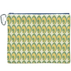 Pattern Circle Green Yellow Canvas Cosmetic Bag (xxxl) by AnjaniArt