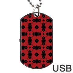 Redtree Flower Red Dog Tag Usb Flash (one Side) by AnjaniArt