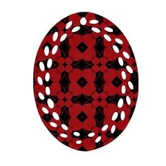 Redtree Flower Red Ornament (oval Filigree)