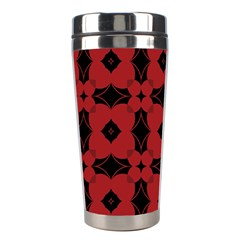 Redtree Flower Red Stainless Steel Travel Tumblers