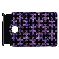 Puzzle1 Black Marble & Purple Marble Apple Ipad 2 Flip 360 Case by trendistuff